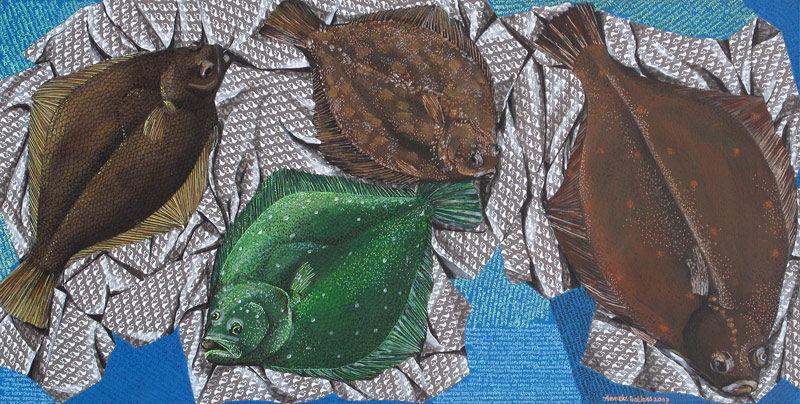 Platvissen blauw