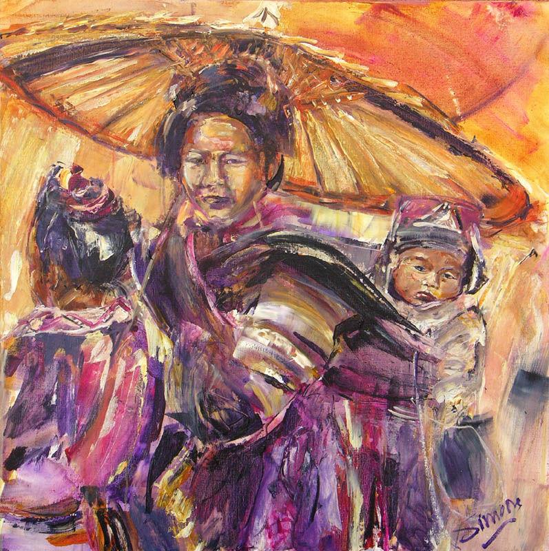 Moeder en kind (Azie)