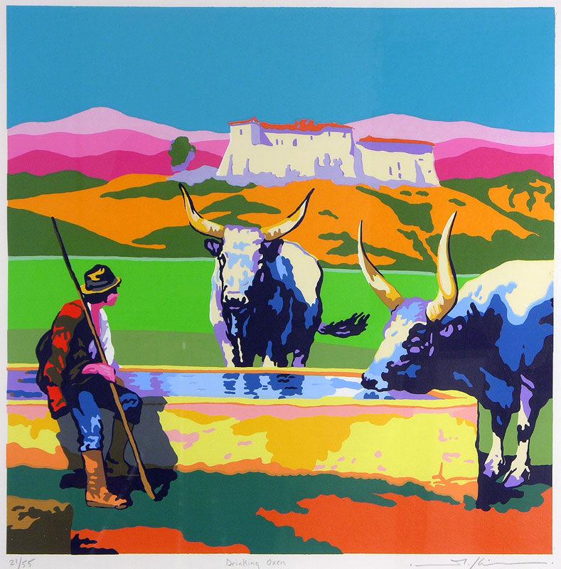 Drinking Oxen