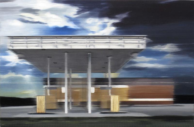 Dismantled fuel station