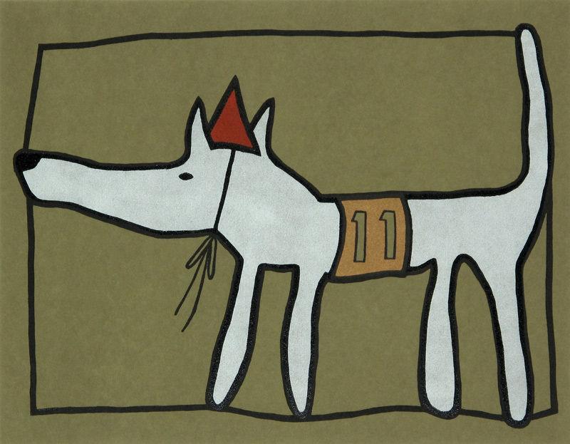 Racehond nummer 11