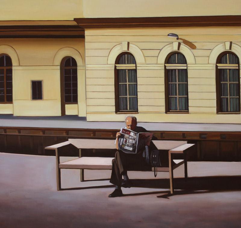 Man op station