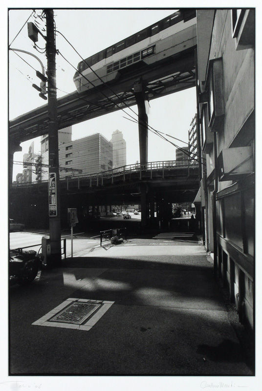 Viaduct train Tokyo