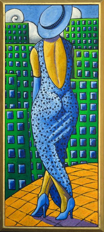 Woman with catwalk walk