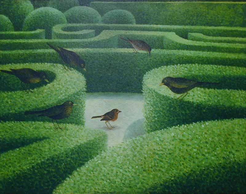 Heggentuin + vogels