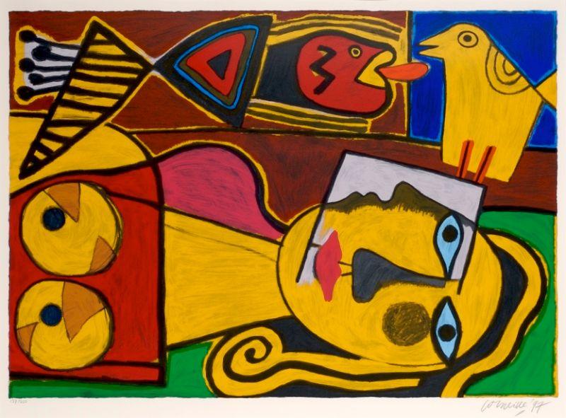 Femme a l'oiseaux jaune
