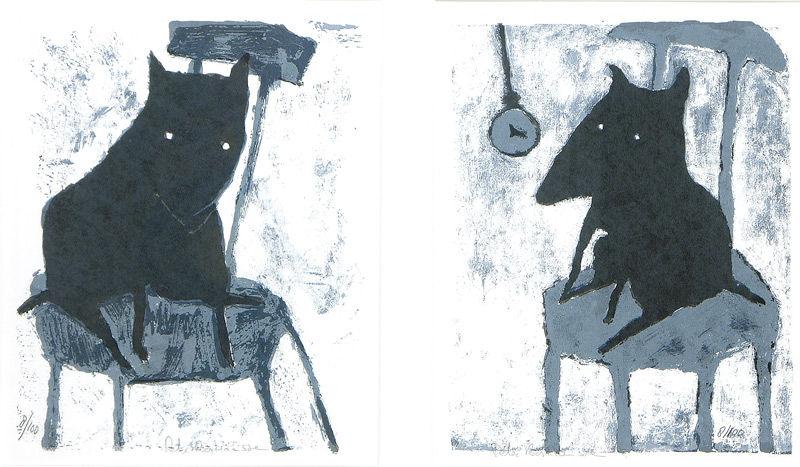 Dog zwart/wit