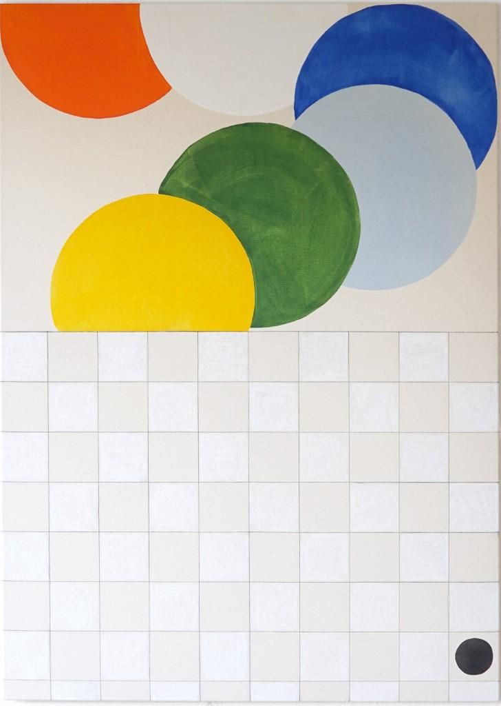 Marbles over tiles