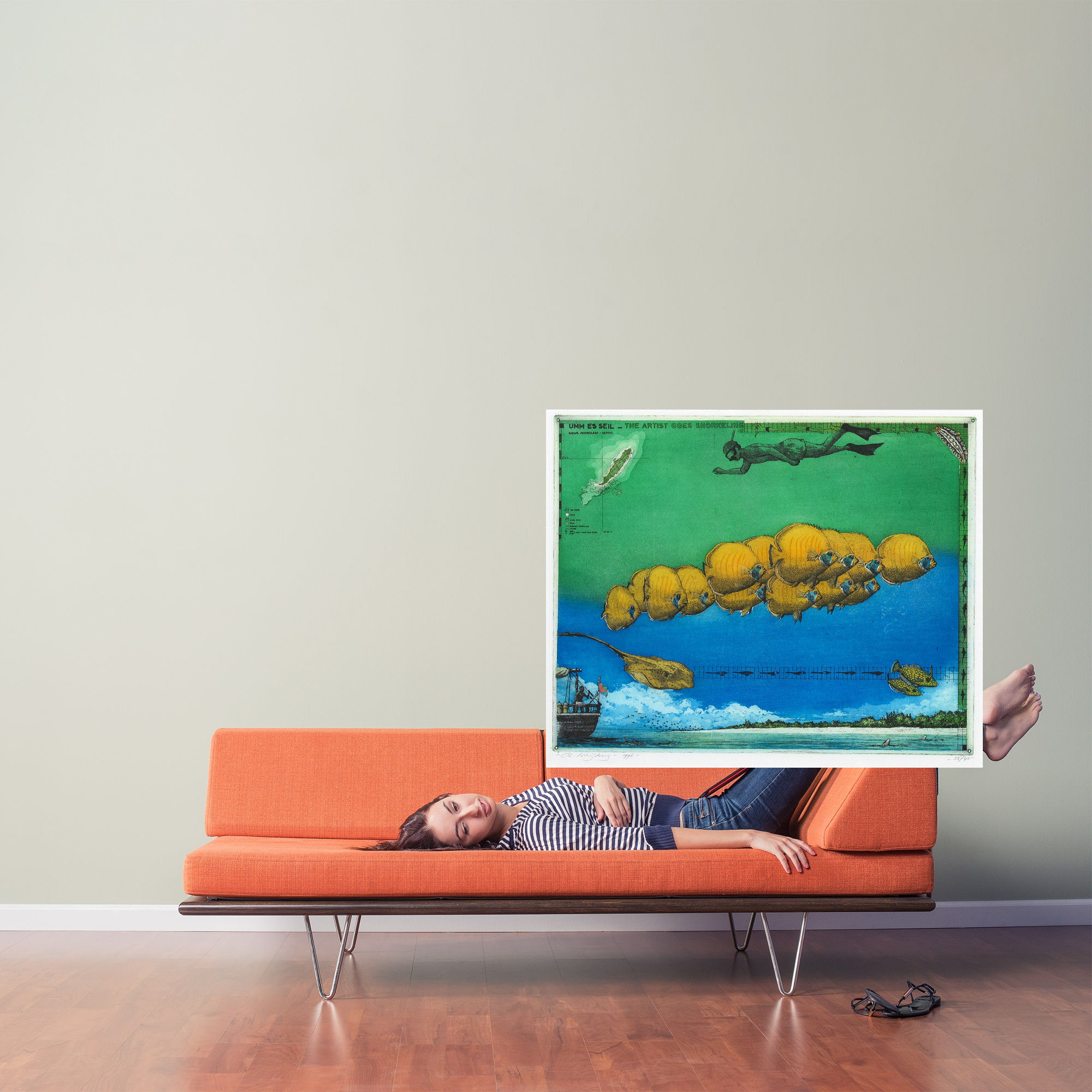 Umm es Sel, the artist goes snorkling   33/40