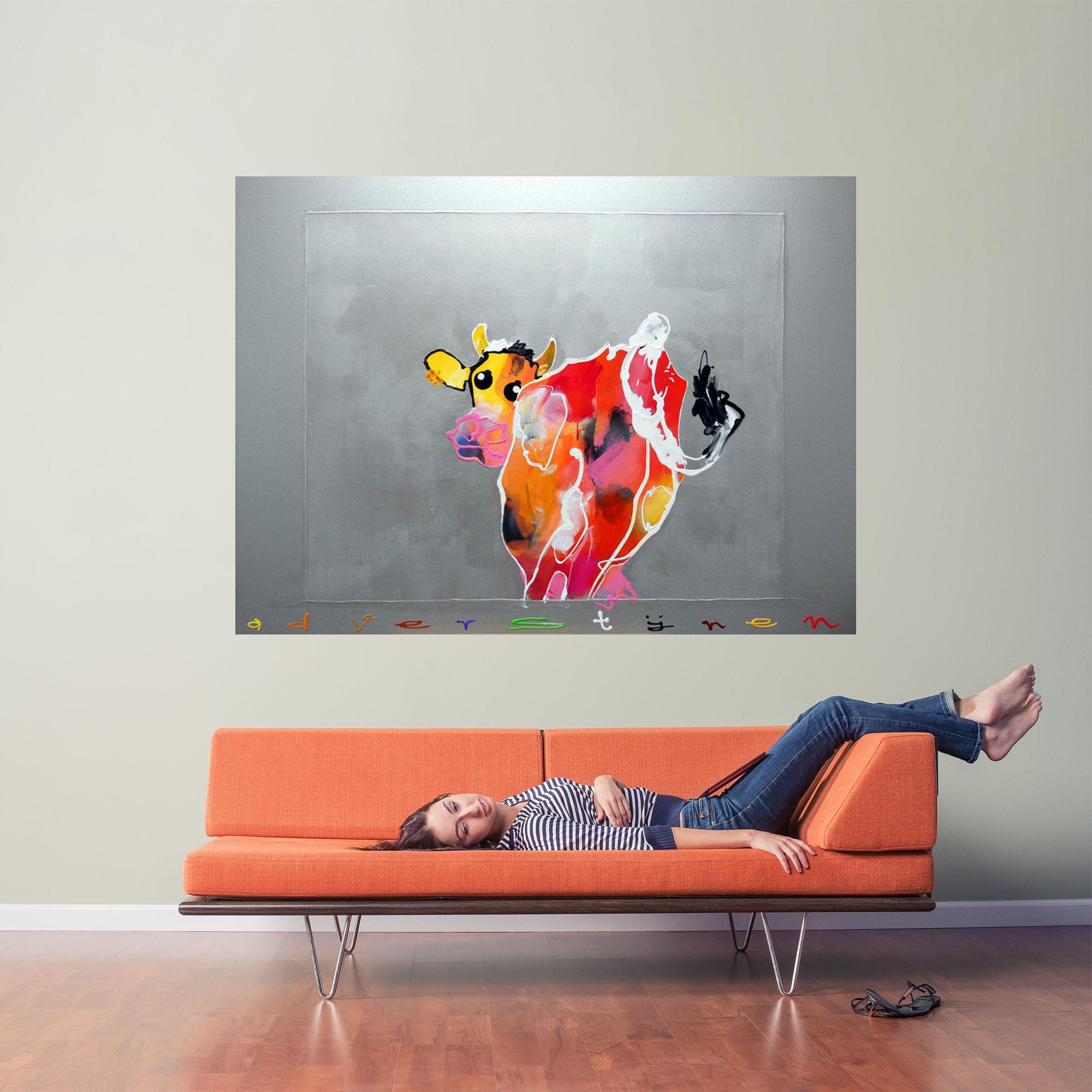 Koe kijkt om